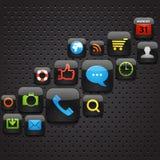 Iconos móviles del interfaz ilustración del vector