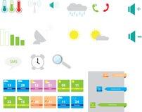 Iconos móviles fijados stock de ilustración