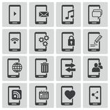 Iconos móviles negros del vector Libre Illustration