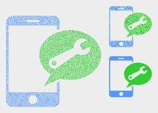Iconos móviles punteados del mensaje de servicio del vector libre illustration
