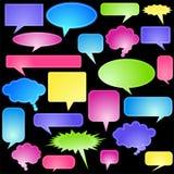 Iconos múltiples de la charla - pastel Fotos de archivo