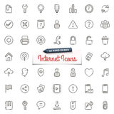 Iconos a mano de Internet Imágenes de archivo libres de regalías
