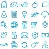 Iconos a mano para el diseño. Fotografía de archivo libre de regalías
