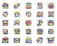 Iconos a mano (vector) fotografía de archivo libre de regalías