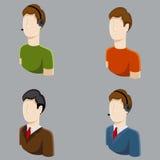 Iconos masculinos del perfil del negocio Fotografía de archivo
