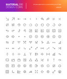 Iconos materiales de la flecha del diseño fijados Imagen de archivo libre de regalías
