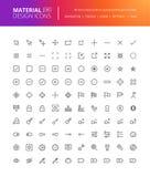 Iconos materiales del diseño fijados Fotografía de archivo