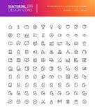 Iconos materiales del negocio del diseño fijados Fotografía de archivo