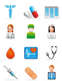 Iconos médicos Imagen de archivo