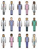 Iconos médicos de la gente Foto de archivo libre de regalías
