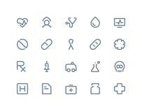 Iconos médicos Línea serie Imagen de archivo libre de regalías