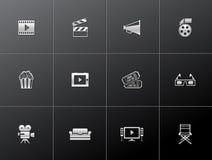 Iconos metálicos - película Imagen de archivo