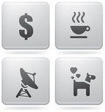 Iconos misceláneos del Internet Fotografía de archivo libre de regalías