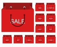 Iconos modernos de las compras del vector fijados Fotos de archivo