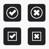 Iconos modernos del voto del vector fijados Fotos de archivo libres de regalías