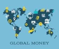 Iconos mundiales del negocio, del web y de la red ilustración del vector
