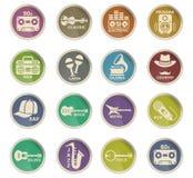 Iconos musicales del web del género Fotografía de archivo libre de regalías