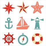 Iconos náuticos stock de ilustración