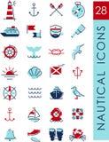Iconos náuticos Imagen de archivo