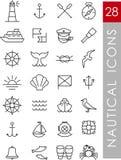 Iconos náuticos Imágenes de archivo libres de regalías