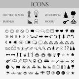 Iconos, negocio, tiempo Fotos de archivo libres de regalías