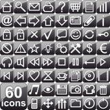 Iconos negros Fotografía de archivo