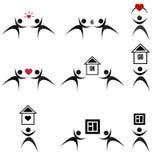 Iconos negros #3. Más iconos en mi lista. Foto de archivo libre de regalías