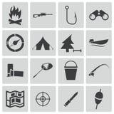 Iconos negros de la caza del vector Libre Illustration