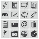 Iconos negros de la oficina del vector Ilustración del Vector