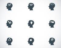 Iconos negros de los pensamientos del vector fijados Fotos de archivo libres de regalías