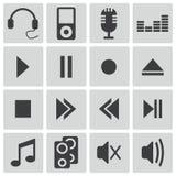 Iconos negros de los sonidos del vector Libre Illustration