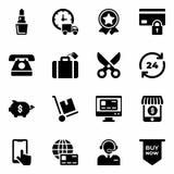 Iconos negros de viernes libre illustration