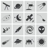 Iconos negros del espacio del vector Libre Illustration