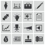 Iconos negros del negocio del vector Ilustración del Vector