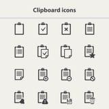 Iconos negros del tablero del vector fijados Fotos de archivo