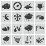 Iconos negros del tiempo del vector Libre Illustration