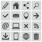 Iconos negros del Web del vector Ilustración del Vector
