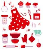 Iconos o accesorios para el ama de casa Fotografía de archivo libre de regalías