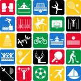 Iconos olímpicos de los deportes Imagen de archivo libre de regalías