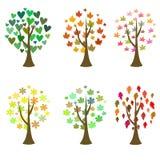Iconos originales del árbol Sistema del vector Imagen de archivo libre de regalías