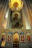 Iconos ortodoxos en la catedral de Svetitskhoveli, Mtskheta, Fotografía de archivo libre de regalías