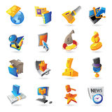 Iconos para el asunto y las finanzas Imagenes de archivo