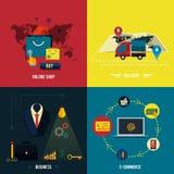 Iconos para el comercio electrónico, entrega, en línea shopoing. libre illustration