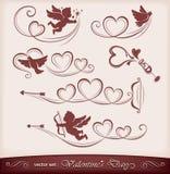 Iconos para el día de tarjeta del día de San Valentín Imágenes de archivo libres de regalías