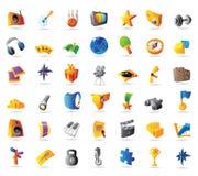 Iconos para el deporte y el recorrido Foto de archivo libre de regalías