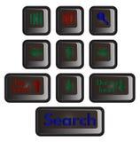 Iconos para el diseño web Foto de archivo libre de regalías