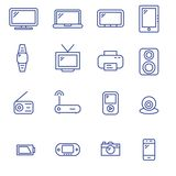 Iconos para el dispositivo libre illustration