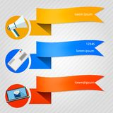 Iconos para el hoja informativa Imagen de archivo libre de regalías