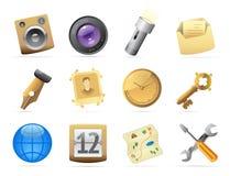 Iconos para el interfaz Fotografía de archivo libre de regalías
