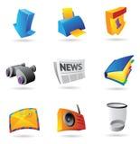 Iconos para el interfaz del ordenador Imágenes de archivo libres de regalías